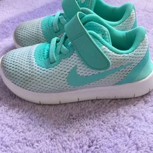 Teal Nike Toddler Shoes